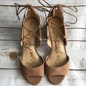 Sam Edelman lace up block heels